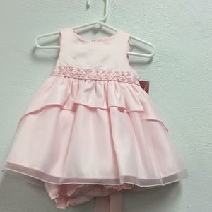 Pink dress new with tags 6 to 9 months